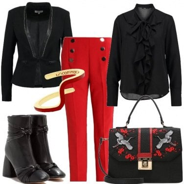 Outfit Tempo di rosso chic
