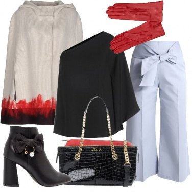 Outfit Pennellate rosse