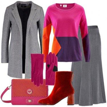 Outfit Grigio e colore