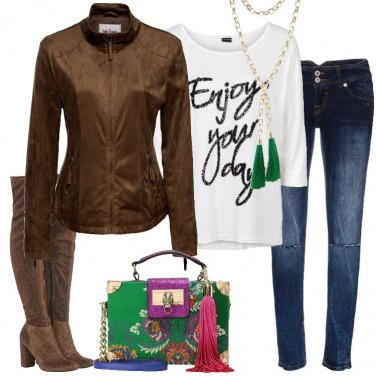 Outfit Jeans e cuissard
