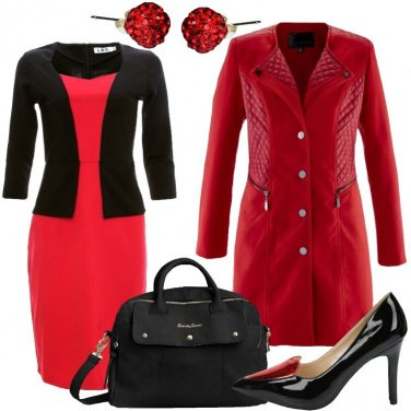 Outfit Riunione in rosso