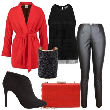 Outfit Grintosa in rosso e nero