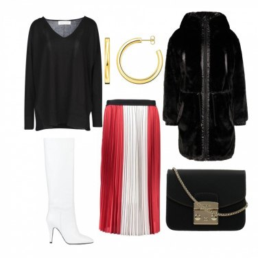 outfit donna inverno bianco stivali
