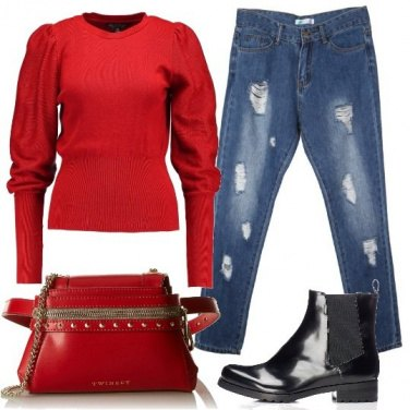 Outfit Maglione rosso