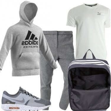 Outfit In palestra in grigio