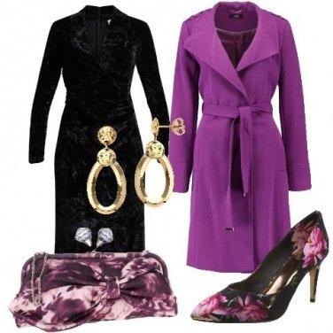 Outfit Scarpe e borsa in fantasia floreale