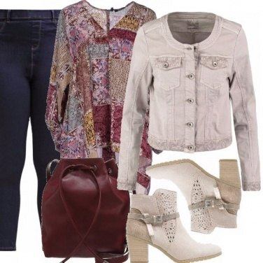 Outfit Jeggings e patchwork