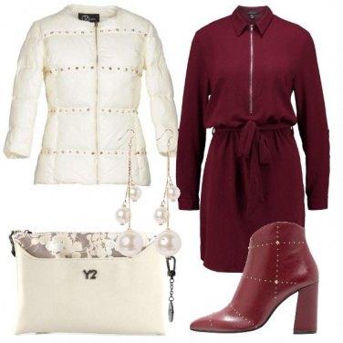 Outfit Il piumino con le borchie
