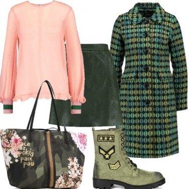 Outfit Mood militare e geometrie