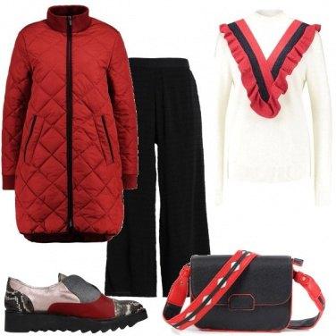 Outfit Caldo rosso