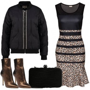 Outfit Piumino a catenelle