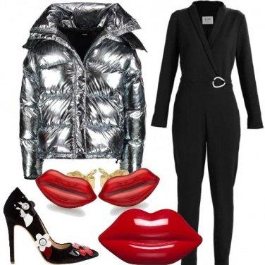 Outfit Il piumino scintillante