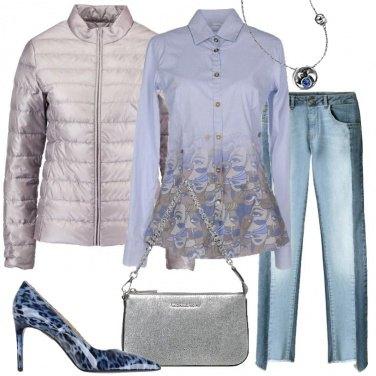Outfit Il piumino argento