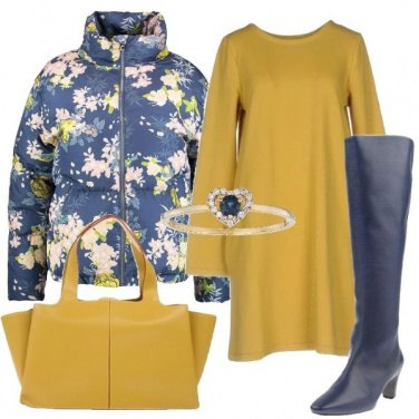 Outfit Piumino floreale