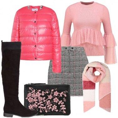 Outfit Minigonna con il rosa