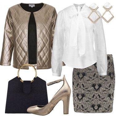 Outfit Oro nero e bianco