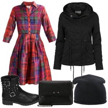 Outfit Il vestito scozzese in chiave Urban