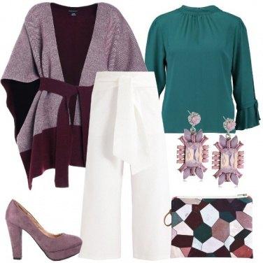 Outfit La borsa fantasia geometrica