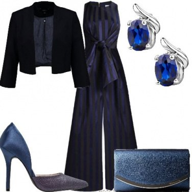 Outfit Chic in blu