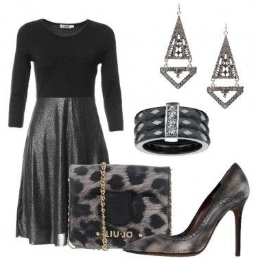 Outfit Nero argentato