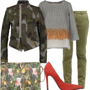 Outfit Mimetico e tropicale
