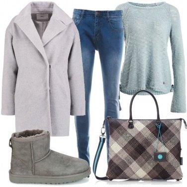 Outfit Il cappotto con bavero