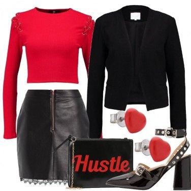 Outfit Feste in rosso e nero