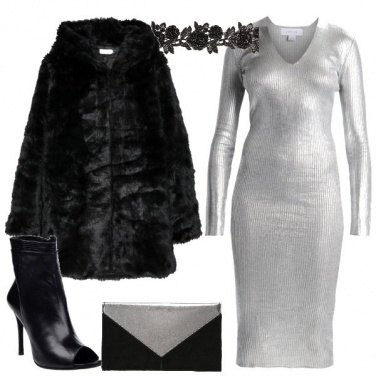 Outfit L\'abito argento