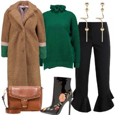 Outfit Verde e volants
