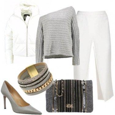 Outfit Piumino e tacchi