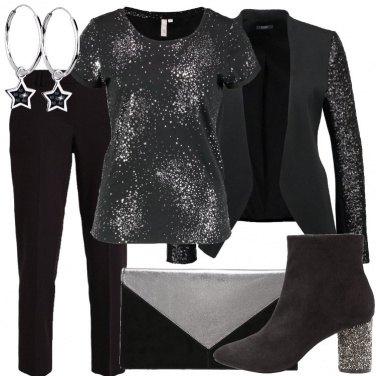Outfit Una cascata di glitter