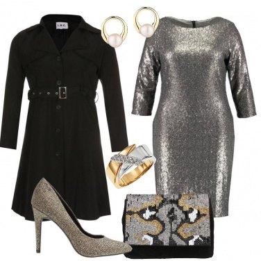 Outfit Silver nero e oro