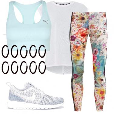 Outfit Fiori e sport