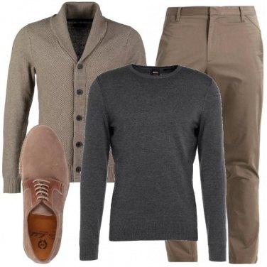 Beige e grigio: outfit uomo Casual per tutti i giorni e ufficio | Bantoa