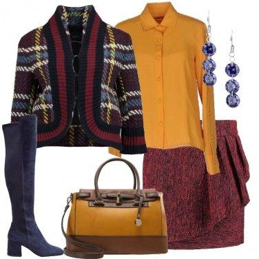 Outfit La giacca a fantasia scozzese