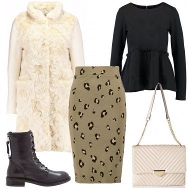 Outfit La gonna animalier