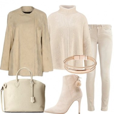 Outfit Solo beige