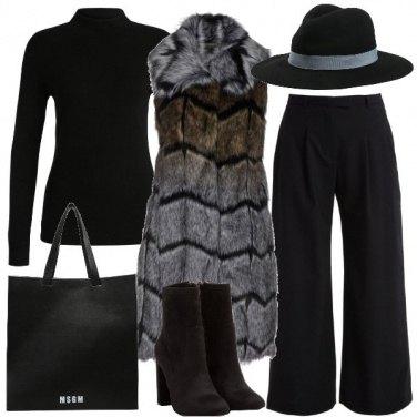 Outfit Il gilet di pelliccia lungo