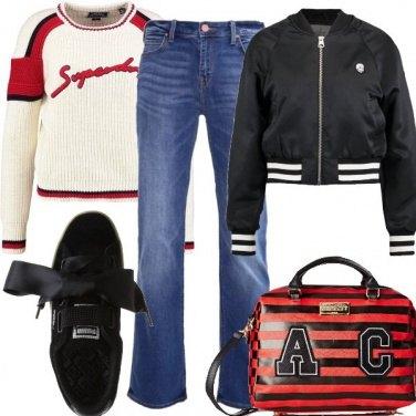 Outfit Dettagli a righe