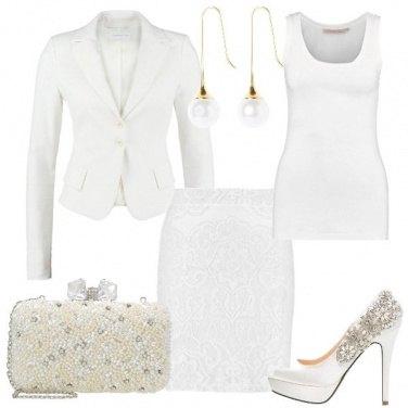 Outfit Bianco damascato
