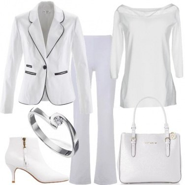 Outfit Bianco in ufficio