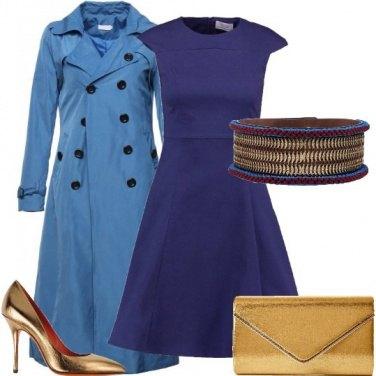 Outfit Oro e blu