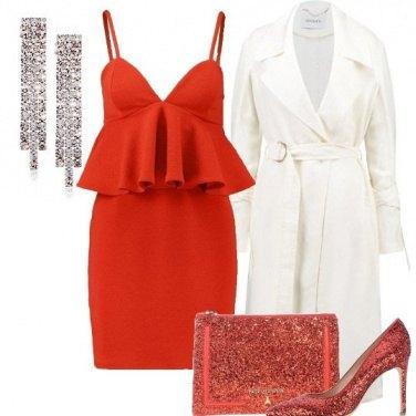 Outfit Rosso glitterato