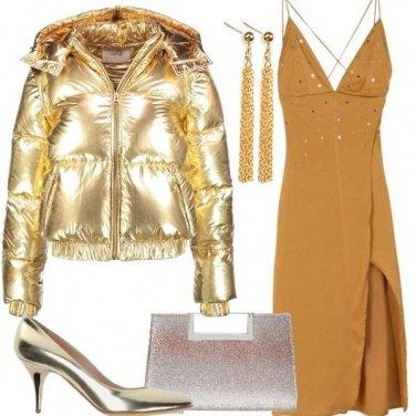 Outfit Il piumino color oro