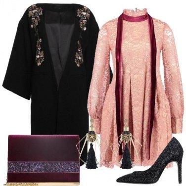 Outfit Il rosa per le feste