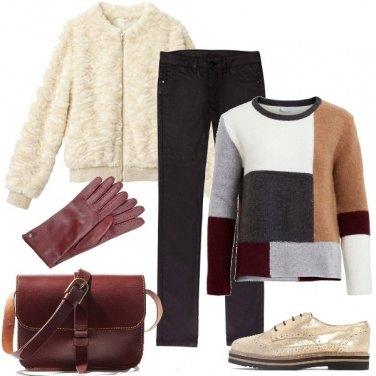 Outfit Il maglione color block
