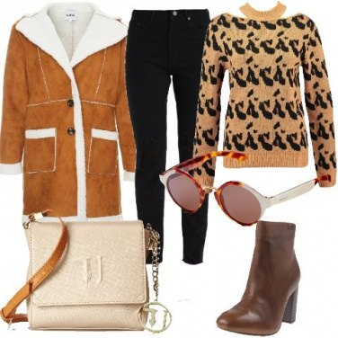 Outfit Maglione in fantasia animalier