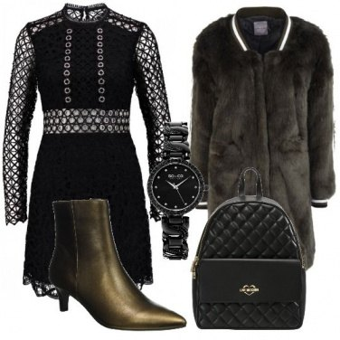 Outfit La mia pelliccia ecologica