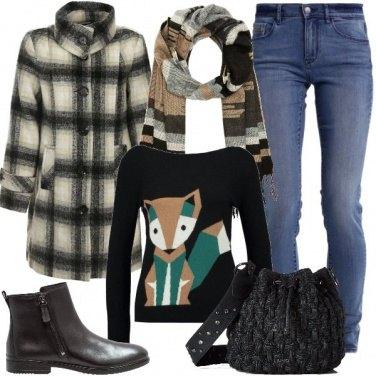 Outfit Maglioncino con la volpe