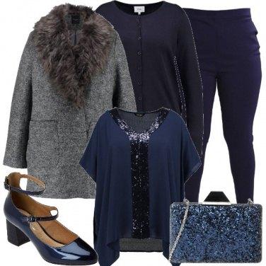 Outfit Sbrilluccichio in blu
